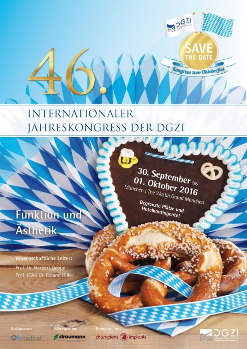 Programm zum 46. Internationaler Jahreskongress der DGZI 2016 zum Oktoberfest in München